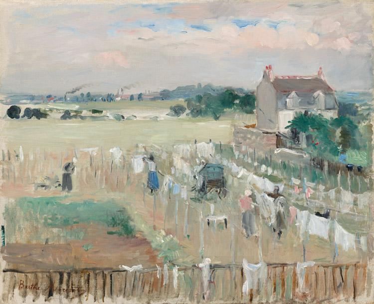 Berthe Morisot Hanging the Laundry out to Dry (nn02) oil painting picture